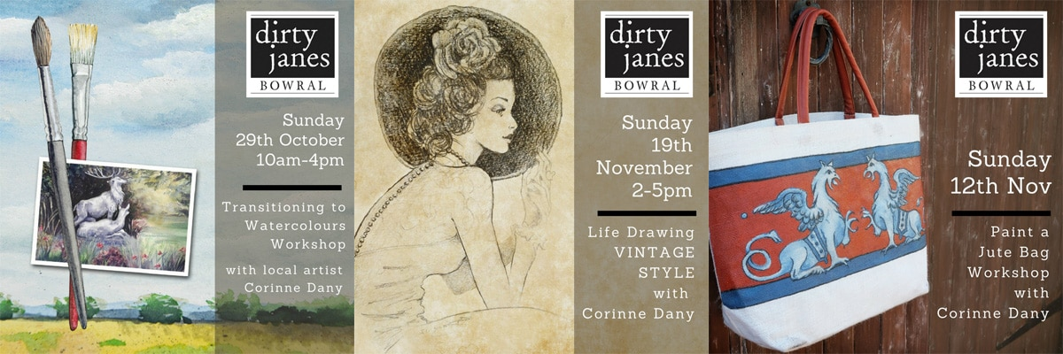 Local Artist Workshops & Talking Clocks at Dirty Janes Bowral