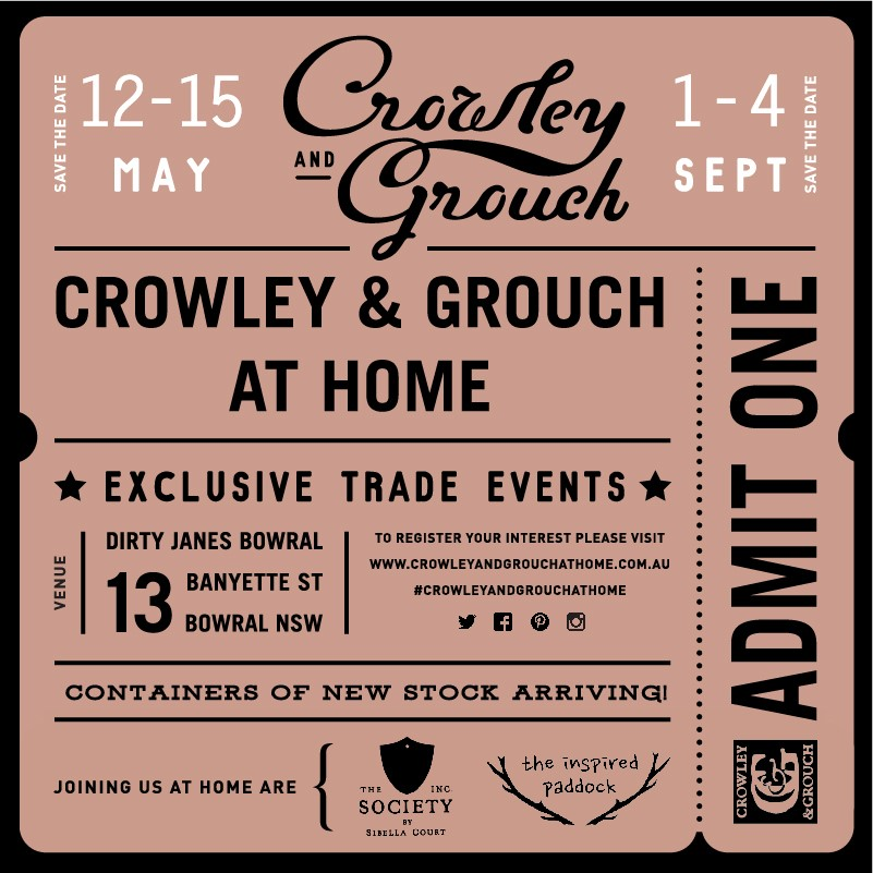 crowley and grouch at home event